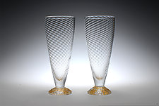 Water Glasses by Tom Stoenner (Art Glass Drinkware)