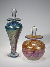 Luster Perfume Bottle by Tom Stoenner (Art Glass Perfume Bottle)