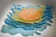 Water Bowl Set by Hudson Beach Glass (Art Glass Serving Pieces)