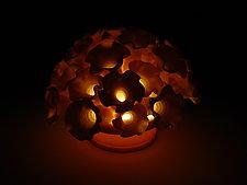 Flowers Coral Tea Light by Lilach Lotan (Ceramic Candleholder)