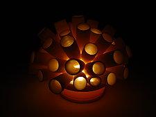 Tubes Coral Tea Light by Lilach Lotan (Ceramic Candleholder)