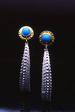 Ocean Queen Earrings by Hratch Babikian (Gold, Silver & Stone Earrings)