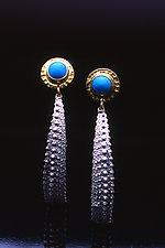 Ocean Queen Earrings by Hratch Babikian (Gold, Silver & Stone Earrings)