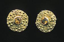 Turtle Grass Earrings by Hratch Babikian (Gold & Stone Earrings)