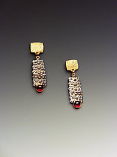 Pointy Spine by Hratch Babikian (Gold, Silver & Stone Earrings)