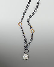 Pearl Vega Necklace by Sydney Lynch (Gold, Silver & Pearl Necklace)