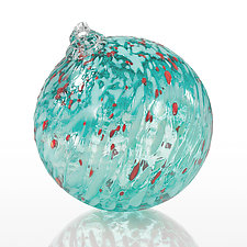 Holly Jolly Christmas by Angelo Fico (Art Glass Ornament)