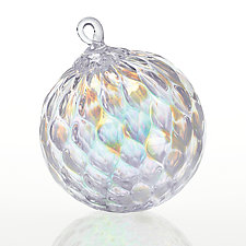 Diamonds and Pearls by Glass Eye Studio (Art Glass Ornament)