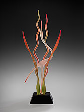 Day in the Marsh - Autumn by Warner Whitfield and Beatriz Kelemen (Art Glass Sculpture)