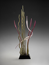 Dancing on the Water's Edge by Warner Whitfield and Beatriz Kelemen (Art Glass Sculpture)