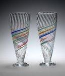 Soda Glasses by Tom Stoenner (Art Glass Cups)
