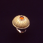 Sea Urchin Ring by Hratch Babikian (Gold & Stone Ring)