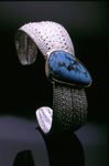Sea Cuff by Hratch Babikian (Silver & Stone Cuff)