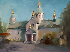 Russian Church by Cathy Locke (Oil Painting)