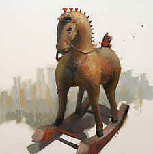 Rocking Horse II by Cathy Locke (Oil Painting)