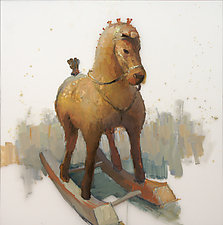 Rocking Horse III by Cathy Locke (Oil Painting)