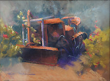Old Tractor by Cathy Locke (Pastel Painting)