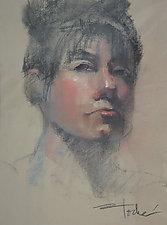 Portrait of Prue by Cathy Locke (Pastel Painting)