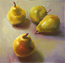 Pears by Cathy Locke (Oil Painting)