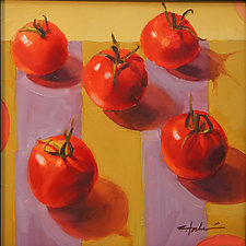 Tomatoes by Cathy Locke (Oil Painting)