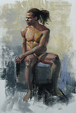 Male Figure by Cathy Locke (Pastel Painting)