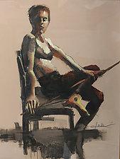 Orange Mono by Cathy Locke (Oil Painting)