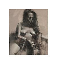 Female Figure by Cathy Locke (Charcoal Drawing)