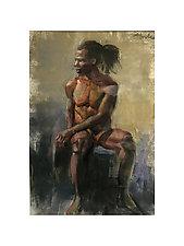 Male Figure Drawing by Cathy Locke (Pastel Drawing)