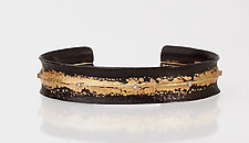 Burnished Cuff by Pat Flynn (Gold, Stone & Iron Bracelet)