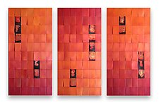 Tangerine Triptych by Robert A. Brown and Anne Moran (Metal Wall Art)