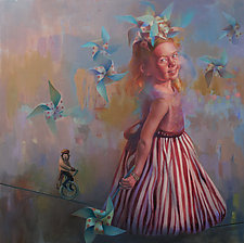 Pinwheels by Cathy Locke (Oil Painting)