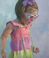 All Dressed Up I by Cathy Locke (Oil Painting)