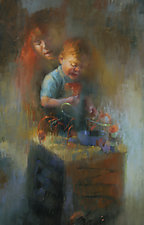 Toy Chest by Cathy Locke (Pastel Painting)
