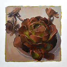 Cactus Rosettes by Cathy Locke (Oil Painting)