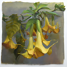 Yellow Trumpets by Cathy Locke (Oil Painting)