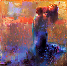 Falling Together by Cathy Locke (Pastel Painting)