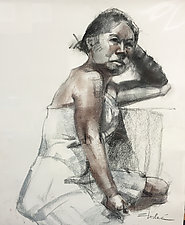 Tami by Cathy Locke (Charcoal Drawing)
