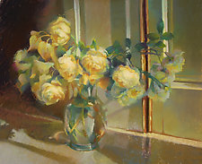 Yellow Roses by Cathy Locke (Giclee Print)
