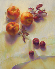 Peaches and Plums by Cathy Locke (Giclee Print)