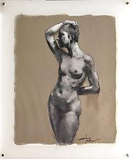 Torso I by Cathy Locke (Mixed-Media Painting)