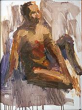 Brown Figure by Cathy Locke (Acrylic Painting)