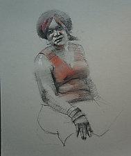 Zwanda by Cathy Locke (Charcoal & Pastel Drawing)