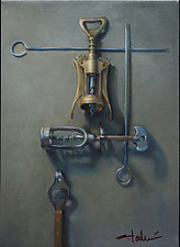 Corkscrews by Cathy Locke (Oil Painting)