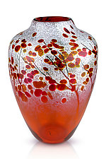 Afton Mountain Fall by Daniel Scogna (Art Glass Vase)
