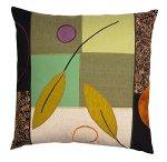 Green Leaves by Susan Hill (Cotton, Linen & Silk Pillow)