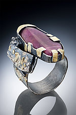 Oval Tourmaline Ring by Nina Mann (Gold, Silver & Stone Ring)