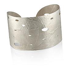 Wafer Cuff in Sterling Silver by Ayesha Mayadas (Silver Bracelet)