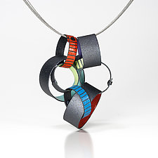 PaperChain Pendant Necklace by Lou Ann Townsend and Mary Filapek (Copper Necklace)