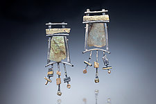 Magical Earrings by Nina Mann (Gold, Silver & Stone Earrings)