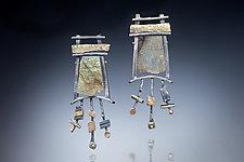 Magical Earrings by Nina Mann (Gold, Silver & Stone Earrings)